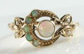 【送料無料】ネックレス ゴールドビクトリアアールデコインオパールパールミスティックサンムーンリングlush 9k 9ct gold victorian art deco ins aus opal amp; pearl mystic sun amp; moon ring