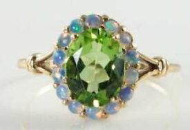 【送料無料】ネックレス ゴールドペリドットオパールアールデコインクラスタリングフリーサイズlush 9k 9ct gold peridot aus opal art deco ins cluster ring free resize