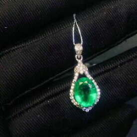 【送料無料】ネックレス コロンビアエメラルドペンダント925スターリングホワイトcertified natural colombia emerald pendant 925 sterling silver white women gifts