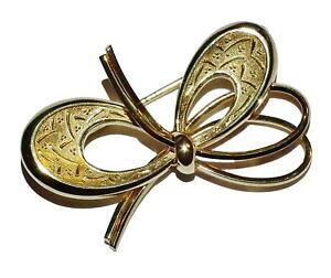 【送料無料】ネックレス イエローゴールドブローチ14ct yellow gold fancy bow brooch