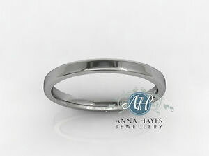 【送料無料】ネックレス 2mm18ctホワイトトップリングrrp23927グラム2mm 18ct white gold ladies flat top ring handmade genuine rrp 239 27 grams