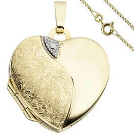 【送料無料】ネックレス セット213mm333ゴールドメダルjewelry set, medallion heart for 2 photos 1,3mm curb chain 333 gold