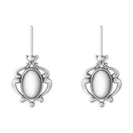 【送料無料】ネックレス ゲオルグジェンセンイアリング2019 スターリングgeorg jensen heritage earrings 2019 oxidised sterling silver