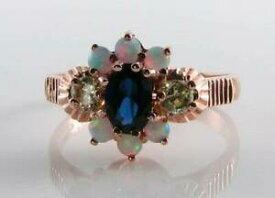 【送料無料】ネックレス lush 9ct 9k rose gold blue sapphire peridotopal art deco ins ring free resizelush 9ct 9k rose gold blue sapphire peridot o