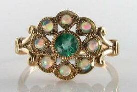 【送料無料】ネックレス lush 9ct 9kgold colombian emerald opal art decoins cluster deity ring sizelush 9ct 9k gold colombian emerald opal art deco