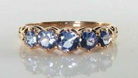 【送料無料】ネックレス lush 9ct 9k rose gold tanzanite art decoins eternity ring free resizelush 9ct 9k rose gold tanzanite art deco ins eternity