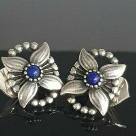 【送料無料】ネックレス ゲオルクイェンセンシルバーイヤリングラピスラズリクリップgeorg jensen heritage lapis lazuli clip on silver earrings of the year 1998