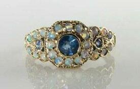 【送料無料】ネックレス lush 9ct 9k gold blue sapphire opal27stone art deco ins ring free sizelush 9ct 9k gold blue sapphire opal 27 stone art dec