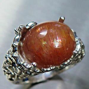 【送料無料】ネックレス オレンジレッドシルバーkkゴールドプラチナリング9ct natural cats eye sunstone orange red 925 silver 14k 18k gold platinum ring