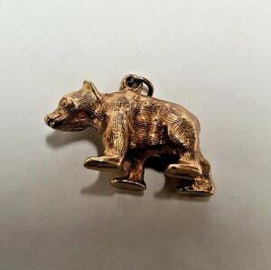 【送料無料】ネックレス ゴールドイエローゴールドベアペンダントgold 9ct yellow gold bear pendantcharm