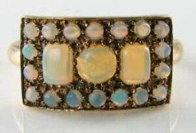 【送料無料】ネックレス ゴールドオパールクラスタアールデコインリングフリーサイズlush 9k 9ct gold all aus opal cluster eternity art deco ins ring free resize