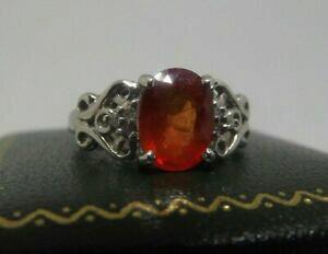 【送料無料】ネックレス kホワイトゴールドオレンジサファイアリング18ct 18k white gold 2ct orange sapphire ring n