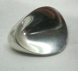 【送料無料】ネックレス ゲオルクイェンセンビンテージスタイリッシュソリッドシルバーブローチgeorg jensen 1960s vintage heavy stylish solid silver brooch
