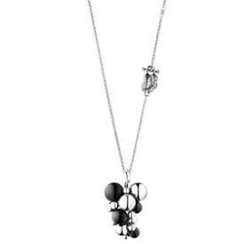 【送料無料】ネックレス ゲオルクイェンセンムーンライトスターリングシルバーオニキスペンダントチェーンgeorg jensen moonlight grapes sterling silver amp; onyx pendant amp; chain