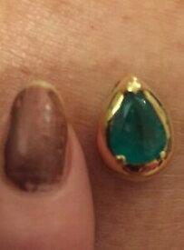 【送料無料】ネックレス ゴージャスコロンビアエメラルドイエローゴールドgorgeous columbian emerald 18ct yellow gold pearshaped chunky pendant