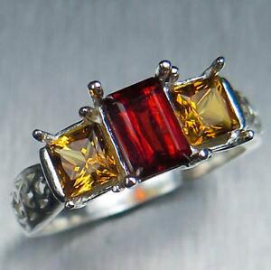 【送料無料】ネックレス オレンジシトリンシルバーkkゴールドプラチナリングrare natural orange clinohumite amp; citrine 925 silver 14k 18k gold platinum ring