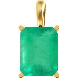 【送料無料】ネックレス コロンビアエメラルドエメラルドカットペンダントkゴールド090cts colombian emerald emerald cut 4 prong pendant 14k gold