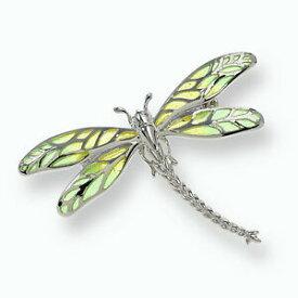 【送料無料】ネックレス ニコルバーエナメルスターリングトンボブローチグリーンnicole barr pliqueajour enamel sterling silver dragonfly broochgreen