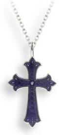 【送料無料】ネックレス ニコルバーシルバークロペンダントエナメルnicole barr silver cross pendant, purple enamel
