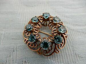 【送料無料】ネックレス ヴィンテージ19599ctトパーズブローチvintage 1959 9ct solid rose gold blue topaz ladies brooch fully hallmarked