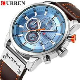 【送料無料】 腕時計 currenクオーツwaterproof luxury curren fashion military army leather quartz men watches casual