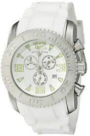 【送料無料】 腕時計 スイスメンズシルバースチールケースホワイトラバーストラップクォーツウォッチswiss legend mens silver steel case white rubber strap quartz watch 1006702