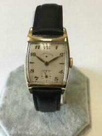 【送料無料】 腕時計 クラシックメンズホーンラグclassic 1940s mens 21j lord elgin wristwatch with great horn lugs