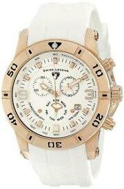 【送料無料】 腕時計 スイスローズゴールドケースホワイトラバーストラップクロノグラフウォッチswiss legend 10164rg02wht rose gold case white rubber strap chronograph watch