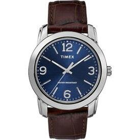 【送料無料】 腕時計 メーターtimex tw2r86800, mens basics brown leather watch, 39mm, 30 meter wr