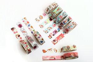あさくさ福猫太郎開運15mm幅×10mマスキングテープ10種類から1種類選べます。