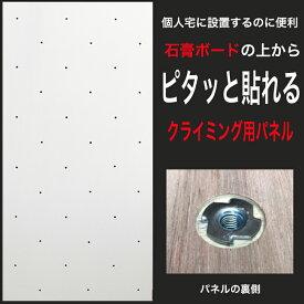 【個人宅向け】ホワイト塗装済みクライミングウォール用パネル FLAT(910 x 1820mm ラワンベニア)- 個人宅用クライミング壁(Bolt タイプ)【代引き不可/合板/DIY/ボルダリングパネル/プライベートウォール/自由に加工可能/クライミング壁/キッズルーム/】