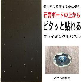 【個人宅向け】黒板塗装済みクライミングウォール用パネル FLAT(910 x 1820mm、ラワンベニア、Boltタイプ) 【パネルの裏側に金具の出っ張りを無くしたタイプ/代引き不可/合板/DIY/ボルダリングパネル/クライミング壁/キッズルーム/子供部屋/ボード/木板】
