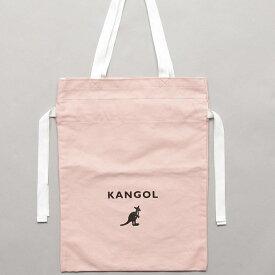 【KANGOL BAG/カンゴール】キャンバス 巾着 バック ロゴ リュック レディース ユニセックス 通勤 通学 旅行 PC ビジネス 学生 高校生 ナップサック リュックサック バッグ 大人 ブランド かわいい おしゃれ カジュアル ふフェス エコバック お買い物 サブ