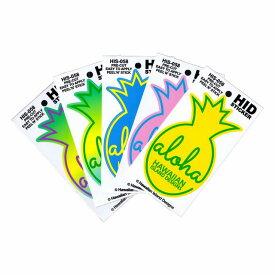 ハワイアン ステッカー デカール シール HID (ALOHA パイン/パイナップル) メール便対応可 ハワイアン雑貨 ハワイ お土産 ハワイアン インテリア ハワイアン 雑貨 ハワイ雑貨