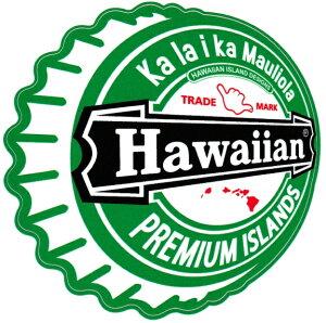 ハワイアン雑貨 インテリア ハワイアン 雑貨 HID アイランドデザイン ステッカー(HAWAIIAN ビン蓋) メール便対応可 ハワイアン雑貨 ハワイ お土産 ハワイアン インテリア