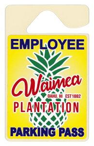 ハワイアン雑貨 ハワイアン 雑貨 パーキング パーミットタグ(Waimea PLANTAION) メール便対応可 ハワイアン雑貨 ハワイ お土産 ハワイアン インテリア