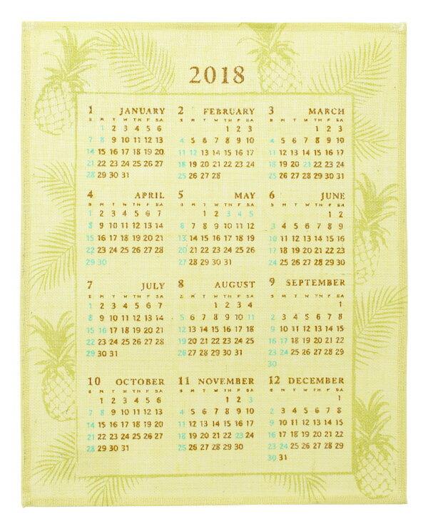 ハワイアン雑貨 2018年 ジュートカレンダー (パイナップル) ハワイアン雑貨 送料無料 インテリア 雑貨 ハワイアン雑貨 インテリア ハワイ お土産 メール便対応可