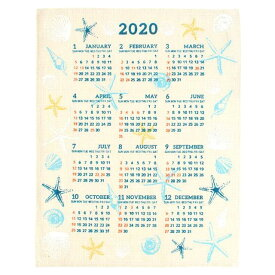 【お買い得セール】【送料無料】ハワイアン雑貨 インテリア ハワイアン 2020年 ジュートカレンダー ハワイアン 雑貨 カレンダー インテリア ワンページ ポスター(シェル) 壁掛け おしゃれ