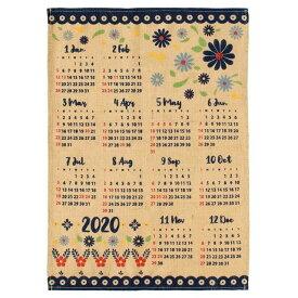 【お買い得セール】【送料無料】ハワイアン雑貨 ハワイアン インテリア 2020年 ジュートカレンダー ハワイアン 雑貨 ポスター カレンダー2020 ワンページ (ポタリー) 壁掛け おしゃれ