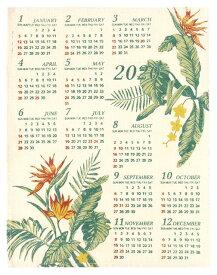 【お買い得セール】【送料無料】ハワイアン雑貨 ハワイアン インテリア 2020年 ジュート カレンダー 壁掛けカレンダー ワンページ 花(エルバ バードオブパラダイス) ポスター ハワイアン 雑貨 おしゃれ