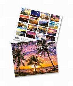 2021年 ハワイ フォトカレンダー(サンセット)ハワイアン雑貨アイランドヘリテイジ ハワイアン 雑貨 インテリア メール便対応 送料無料 ハワイお土産