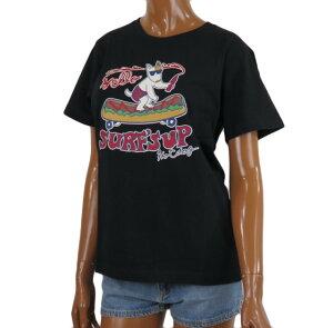 半袖 Tシャツ レディース SURF'S UP サーフズアップ (レディース/ブラック) ハワイアン雑貨メール便対応可 サーフブランド ハワイアン 雑貨 ハワイ ハワイアン