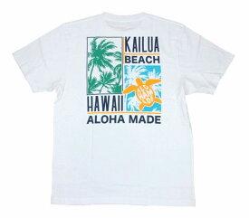 SALE ハワイアン雑貨 ハワイアン 雑貨 ALOHA MADE アロハメイド メンズ 半袖 Tシャツ (メンズ ホワイト) 202MA1ST067 フララニ メール便対応可 サーフブランド ハワイアン 雑貨 ハワイ ハワイアン