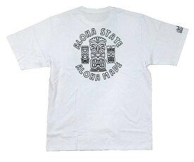 SALE メンズ 半袖 Tシャツ ハワイアン雑貨 ハワイアン 雑貨 ALOHA MADE アロハメイド(メンズ ホワイト)212MA1ST134 フララニ メール便対応可 サーフブランド ハワイアン 雑貨 ハワイ ハワイアン