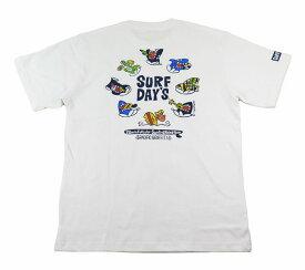 SALE 半袖 Tシャツ メンズ ハワイアン雑貨 ハワイアン 雑貨 SURF DAY'S サーフデイズ(メンズ/ホワイト) 212SF1ST078 メール便対応可 ハワイアン雑貨 ハワイアン 雑貨 ハワイ お土産 ハワイアン サーフ