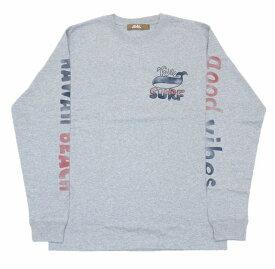 SALE ハワイアン雑貨 ハワイアン 雑貨 ALOHA MADE アロハメイド メンズ 長袖 Tシャツ ロングTシャツ(メンズ/グレー) 194MA1LT055 メール便対応可 ハワイアン雑貨 ハワイアン 雑貨 ハワイ ハワイアン サーフブランド