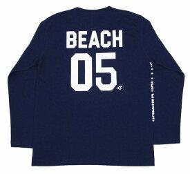 SALE ハワイアン雑貨 ハワイアン 雑貨 ハレイワ メンズ 長袖 Tシャツ(ネイビー) BEACH 05 メール便対応可 ハワイアン雑貨 サーフブランド ハワイアン 雑貨 ハワイ ハワイアン