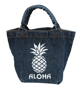 ハワイアン 雑貨 バッグ ハワイアン雑貨 デニム ランチバッグ トートバッグ(パイナップル) ハワイアン雑貨ハワイアン 雑貨 ハワイ お土産 ハワイアン バッグ