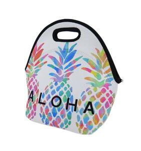 ハワイアン 防水 トートバッグ ランチバッグ ネオプレン バッグ(パイナップル)ウェットスーツ素材ハワイアン雑貨 アメリカン雑貨 ハワイ ランチ ハワイアン 雑貨