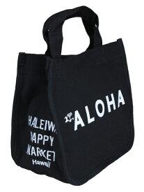 【お買い得セール】ハワイアン トートバッグ ハワイアン雑貨 ハレイワ HALEIWA アロハプリント ミニトートバッグ(ブラック) HLBG-1803D ハワイアン雑貨 サーフブランド ハワイアン 雑貨 ハワイアン ハレイワ ハッピーマーケット